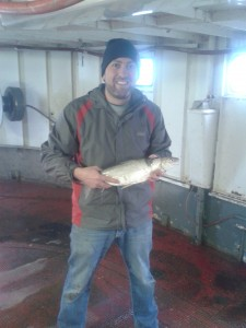 John Eme and our favourite fish, the Lake Whitefish.