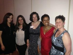 Lana Shaya, PhD candidate in WilsonToxLab, Drs. Rosa da Silva, Joanna Wilson, Juliet Daniel, and Robin Cameron at WOD Hamilton Awards